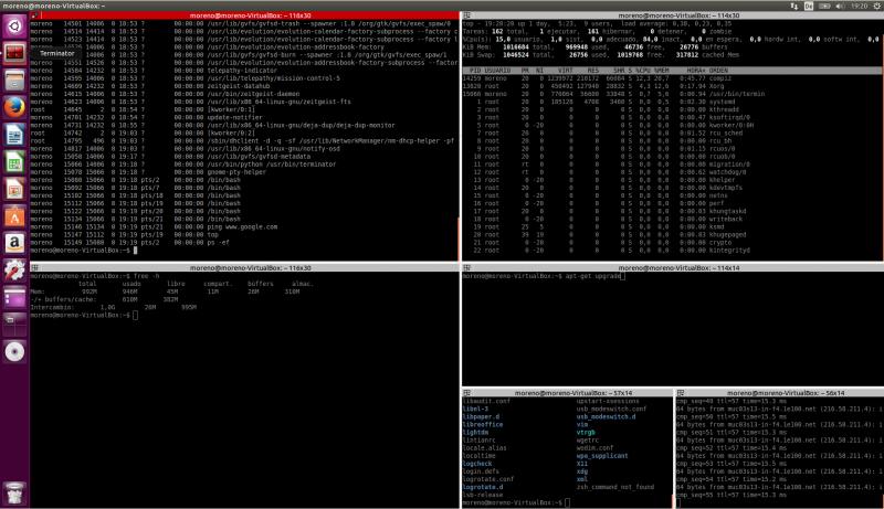 Utilizar múltiples terminales en linux con Terminator