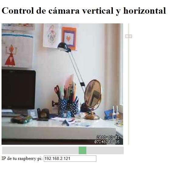 Control de cámara IP usando servos y un servidor web en Raspberry pi